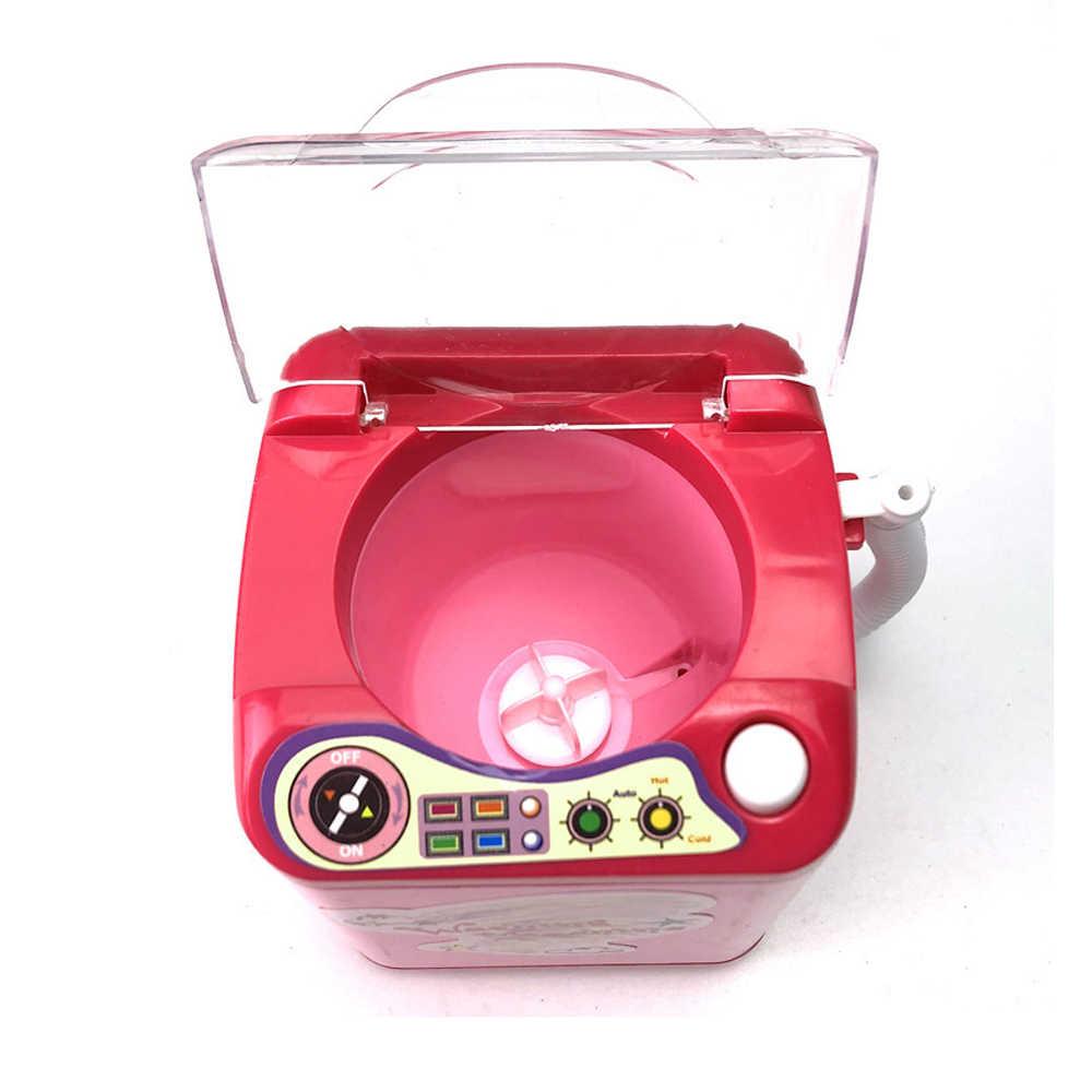 Pinkiou Lavar Pincéis de Maquiagem Puff Blender Maquiagem Escova Cleaner Ferramenta de Limpeza Mini Elétrica Máquina De Lavar De Brinquedo Ferramenta de Limpeza