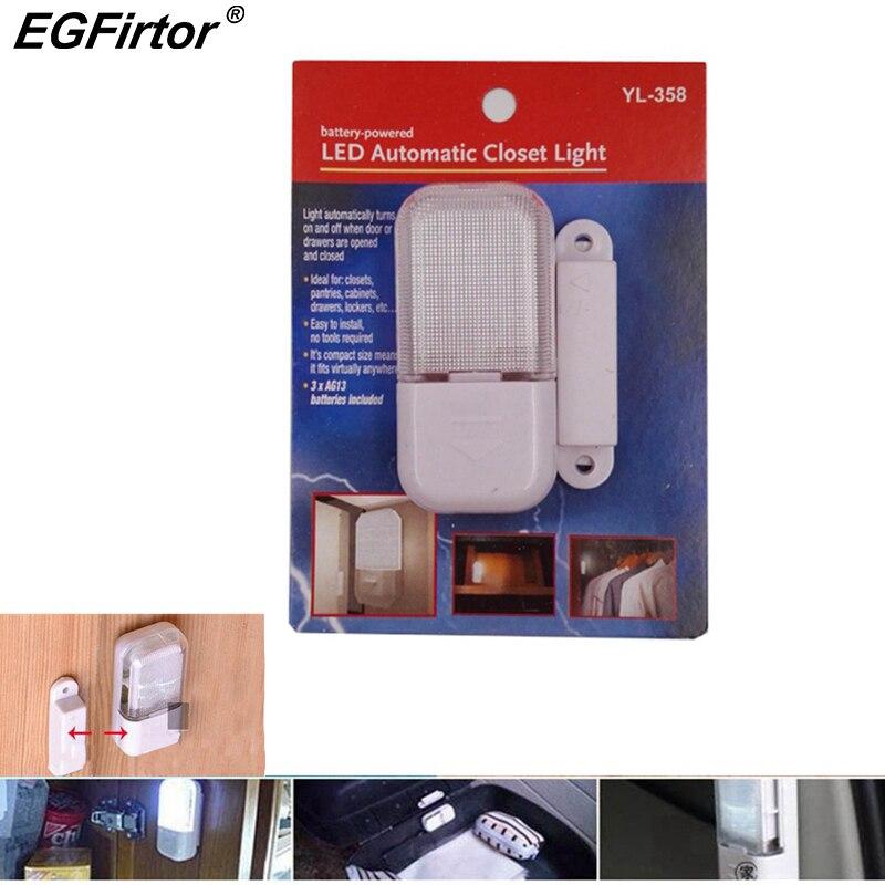 Home Alarm Door Window Sensor Detector Magnetic Contact Cabinet Light Battery Magnetic Control Light Cabinet Door Alarm Sensor