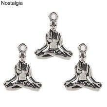 Nostalgie 10 pièces Yoga Charmes Femelle Pendentif Bouddha Méditation Spirituelle Bijoux Pour Femmes 20*16 MM