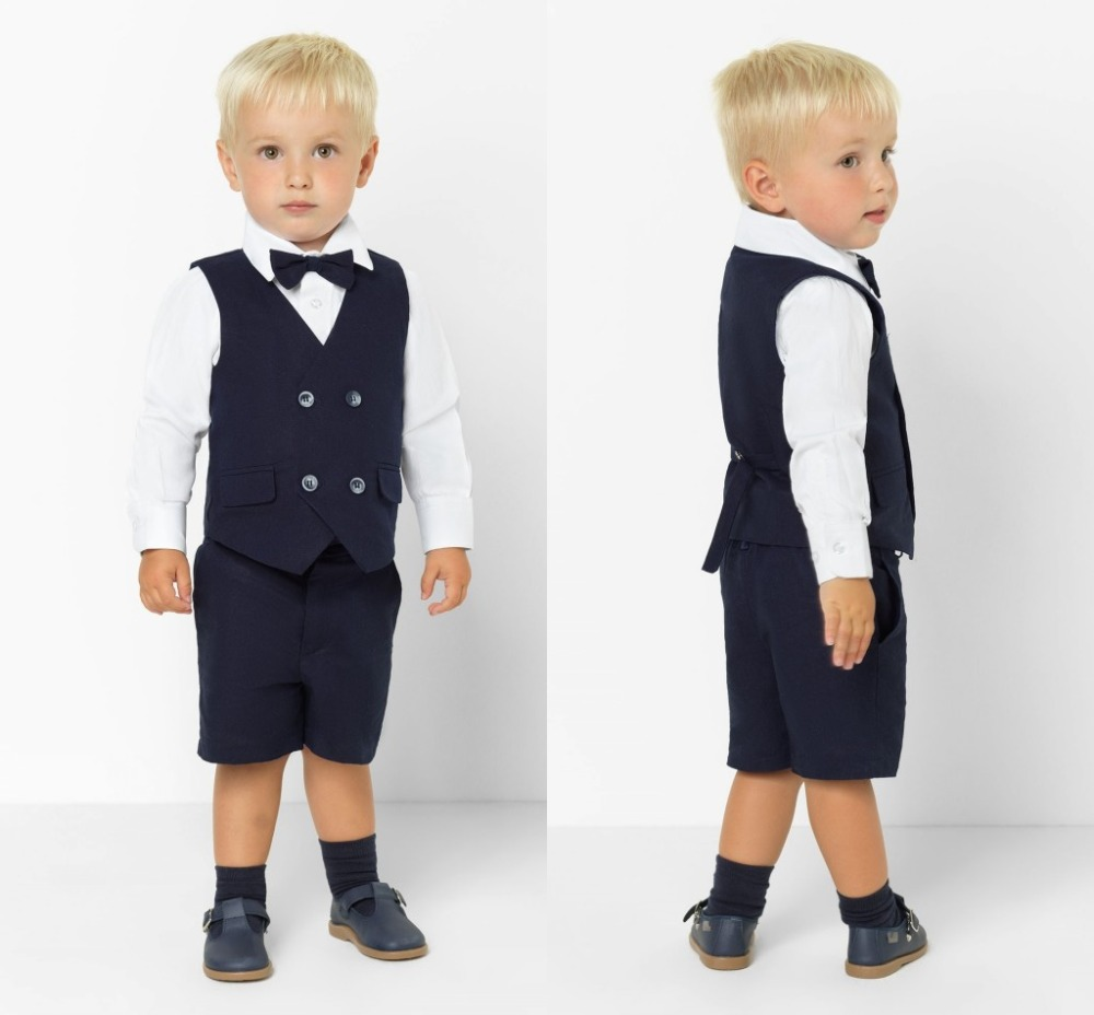 2019 New Arrival Boys' Attire Peaked Lapel Kids Suits Custom Made Clothing Set 2 Pieces Prom Suits (Pants+Tie+Vest) 017