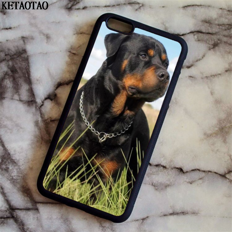 KETAOTAO Rottweiler Beautiful Big Dog Phone Cases for iPhone 4S 5C 5S 6 6S 7 8 Plus X for Samsung Case Soft TPU Rubber Silicone