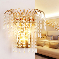 Modern Crystal E14 Wall Lamp Chrome Wall Sconce Bedside Living Room Wall Light Lamp For Corridor/washing table Home Decoration