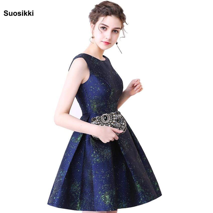 Navy Blue Cocktail Dress Cute Gilrs 2018 Vestidos Plus