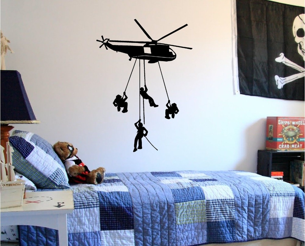 Art Décor: Aliexpress.com : Buy Removable Army Helicopter Wall