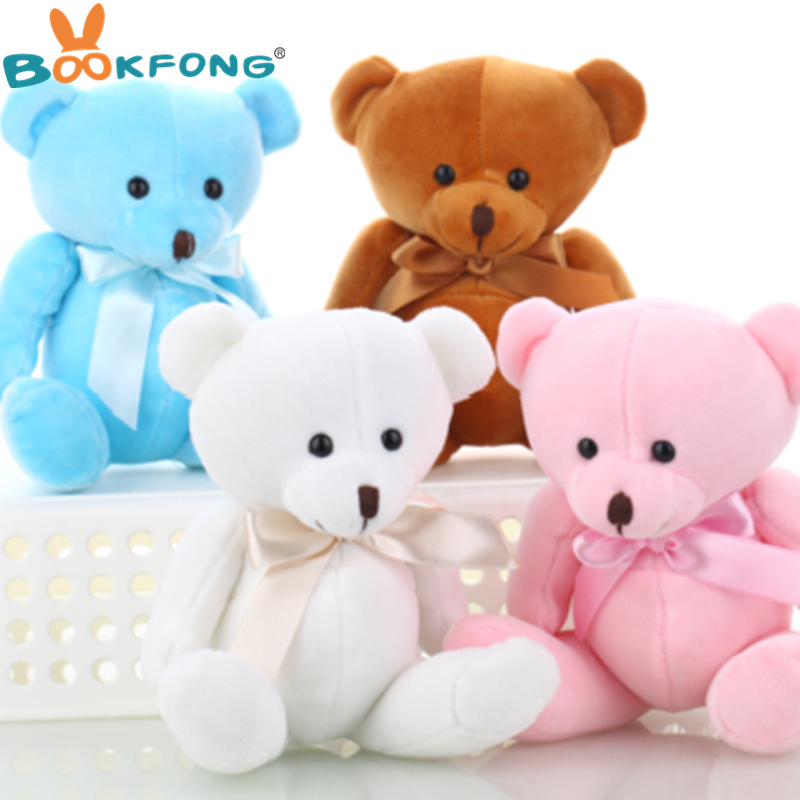 BOOKFONG Lovely Teddy bear plush toys small doll bears for wedding ...