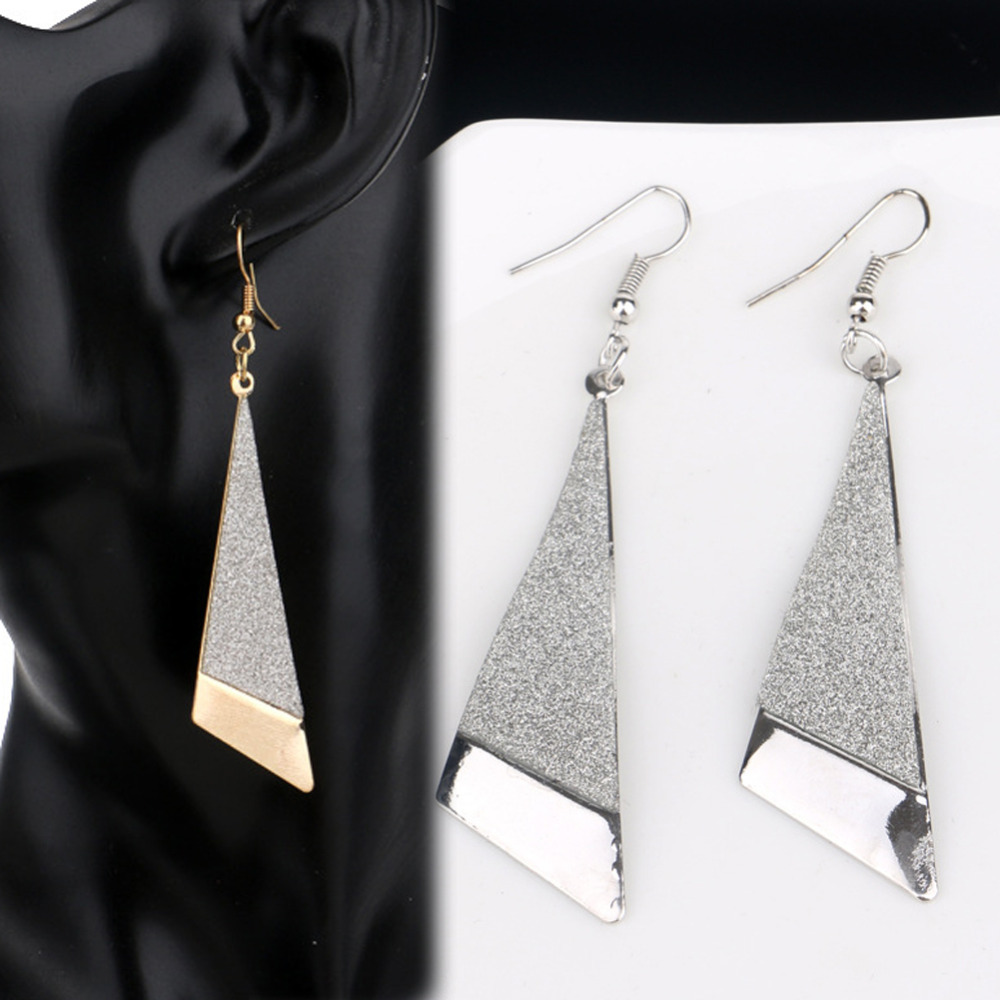 Charming Jewelery Accessories Retro Gold Silver Plated Geometric Woman Earrings Gifts EAR-0662