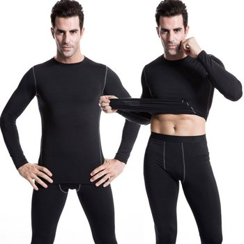 Velvet Winter Men Thermal Underwear Tops Thick 2018 Warm Compression Long Sleeve T-Shirts Tight Shirt For Man 2