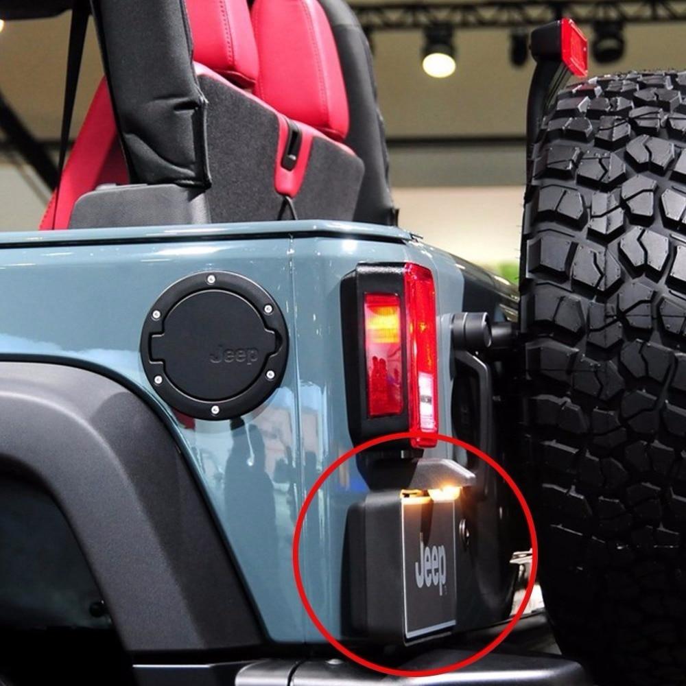 Black Rear License Plate Holder Frames Bracket For Jeep Wrangler JK 2007  2016 License Plates Mounting Bracket In Car Light Assembly From Automobiles  ...