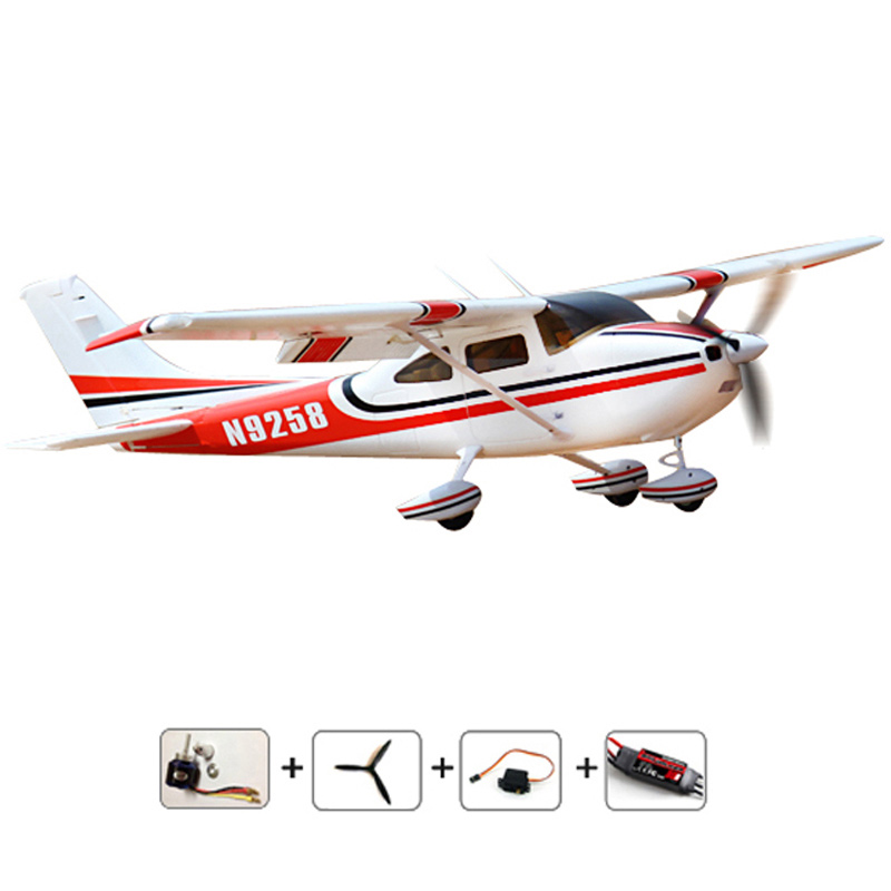 Cessna 182 PNP EPO Foam 1410mm aeromodelling hobby aircraft model RC remote control airplane electric model aircraft aeromodelo pt 17 trainer remote control aircraft aeromodelling 4 ch 2 4ghz stearman pt 17 rc bi plane airplane pnp and kit
