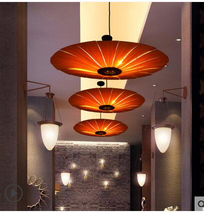 South East Asia new Chinese living room wooden Pendant Light Restaurant Hotel staircase creative personality Japanese style lamp chinese style classical wooden sheepskin pendant light living room lights bedroom lamp restaurant lamp restaurant lights