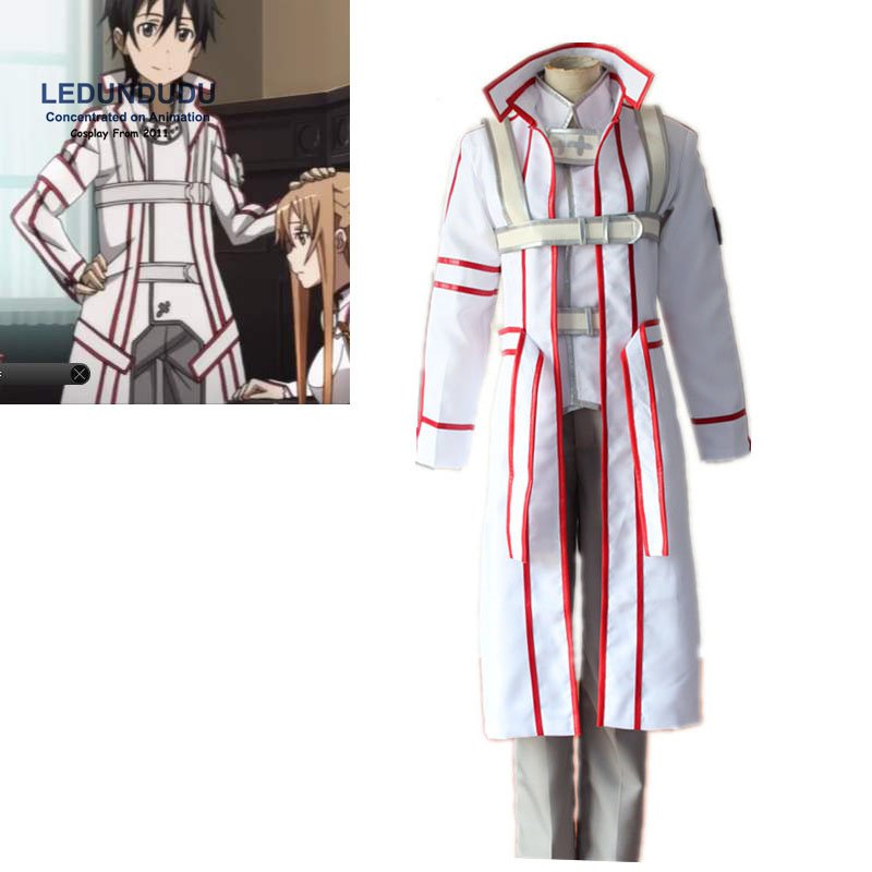 Anime Sword Art Online Cosplay Costumes SAO Kirigaya Kazuto Knights of the Blood Kirito Uniform Fancy Party Outfit for Halloween