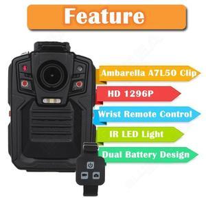 Image 2 - Boblov HD66 02 kamera policyjna 64GB pilot Ambarella A7 kamera do noszenia przy ciele 1296P noktowizor Dash Cams Security Guard Polis