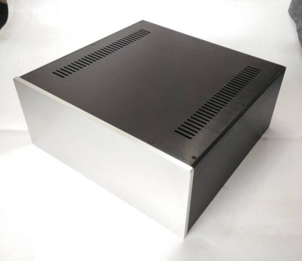 QUEENWAY 4318 full aluminum power amplifier case full aluminum Chassis 430mm*180mm*410mm 430*180*410mm queenway audio 2215 cnc full aluminum amplifier case amp chassis box 221 5mm150mm 311mm 221 5 150 311mm