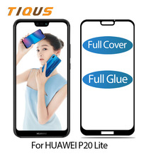 TIQUS Full Cover Tempered Glass For Huawei P20 Lite Screen Protector HD Black Glue Protection Protective Film 1 PCS