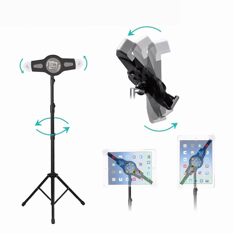 Tablet Lazy Stand Adjustable Floor Mount Stand Tripod Holder Mini Air Tablet Accessories For iPad 2 3 4 Stand Tripod Holder