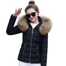 Winter Jacket Women 2019 New Fashion Slim Female Coat Thicken Parka Down Cotton Clothing Fake fox fur collar womens winter coats цена