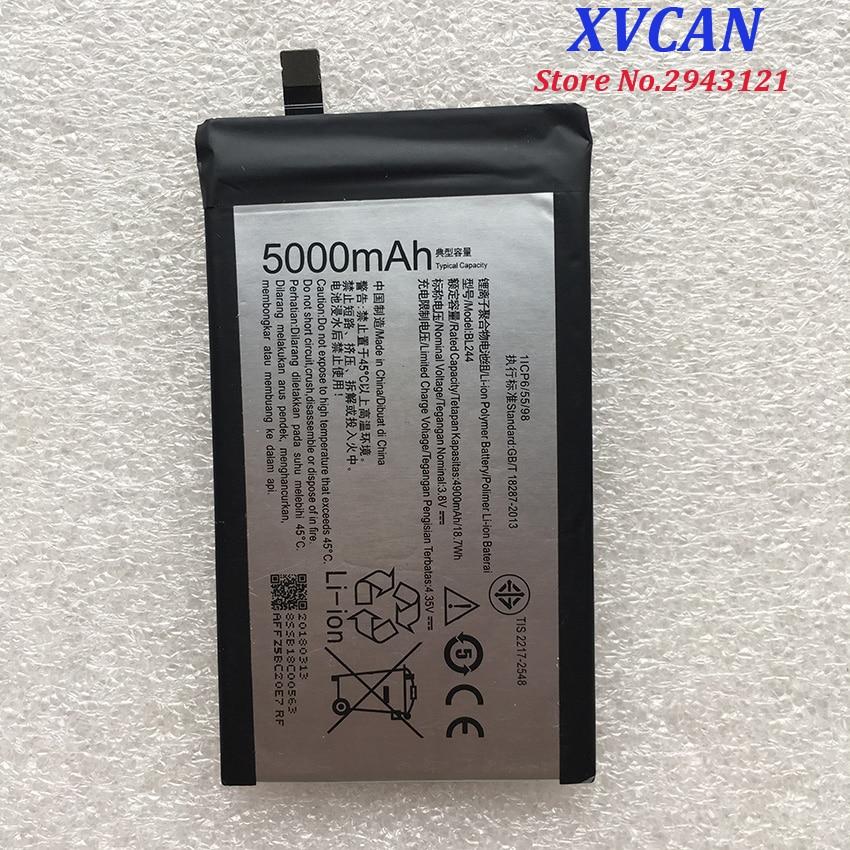 Für Lenovo 5000 Mah BL244 Original Li-Ion Batterie Ersatz für Lenovo Vibe P1 P1A42 P1C58 P1C72 Smart Handy