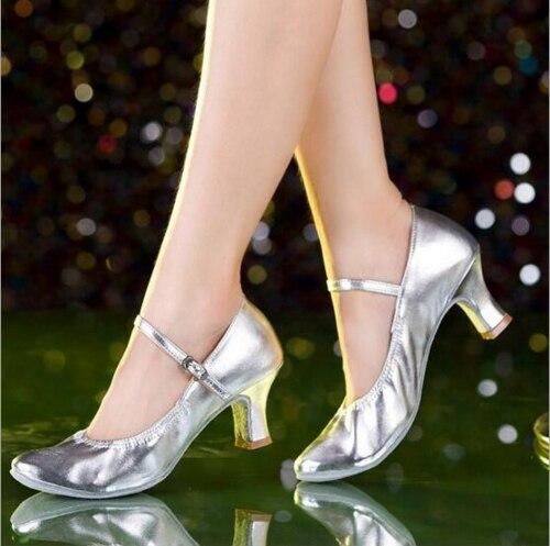 New Brand Black Silver Gold Latin font b Dance b font font b Shoes b font