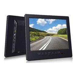 2017 New 8 inch Professional Screen Monitor With TV / VGA / AV input Earphone Free Shipment - Black