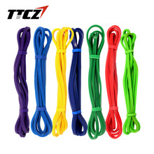 TTCZ Fitness Equipment Loop Cross Fit Tension Resistance Band Exercise Elastic 6 Color Rubber Expander Pull belt 208cm