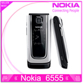 Reformado 6555 original nokia 6555 teléfono celular móvil 3g desbloqueado mp3 bluetooth teclado ruso árabe
