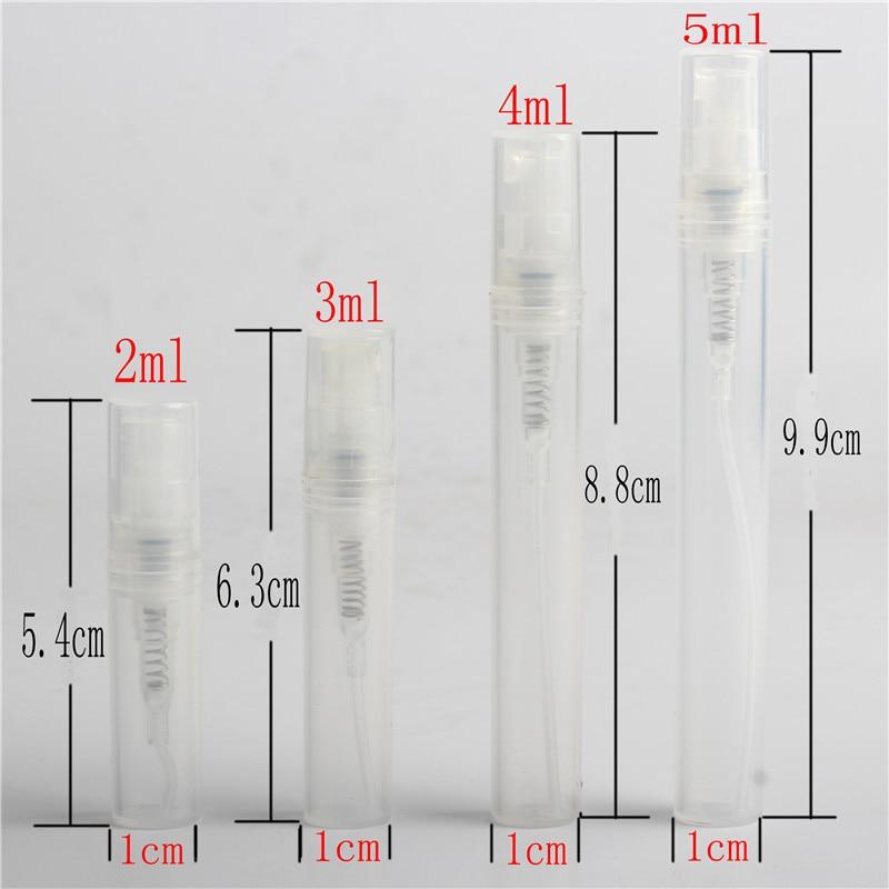 Free Shipping ( 7pcs/lot) Empty 2ml 3ml 4ml 5ml  Mini Plastic Spray Perfume Bottle, Small Promotion Sample Perfume Atomizer