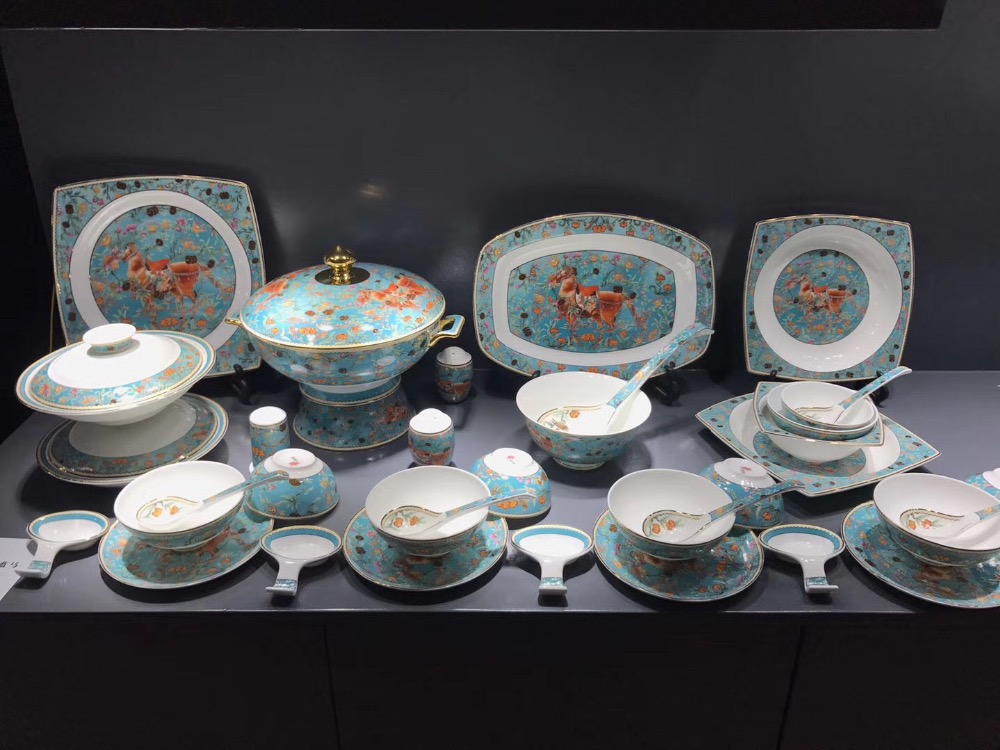 Home Appliance Parts Flight Tracker 62pcs Porcelain Tableware Set /china Bone Dinner Set Tableware Home Appliances Cloisonne/china Bone Tableware Set From Jingdezhen