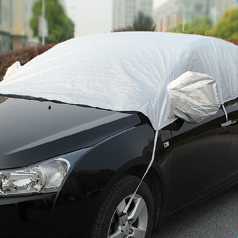 5D Universal Car Sunshade Half Auto Covers Car Front Window Sunshade Styling Waterproof Anti UV Heat Protection Dustproof(China)