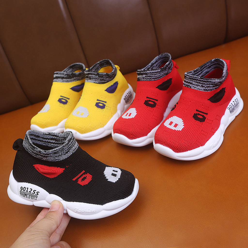Spring New Children High Top Sport Sneakers Toddler Sock Casual Shoes Boys Brand Chunky Sneakers Baby Girls Black Clunky Sneaker
