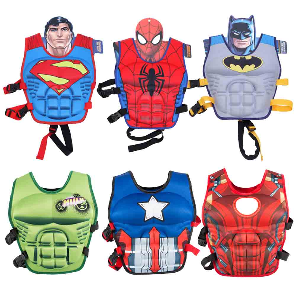 Kids Life Jacket Floating Vest Boy Swimsuit Sunscreen Floating Power Swimming Pool Accessorie Ring For Drifting Boating Lifevest