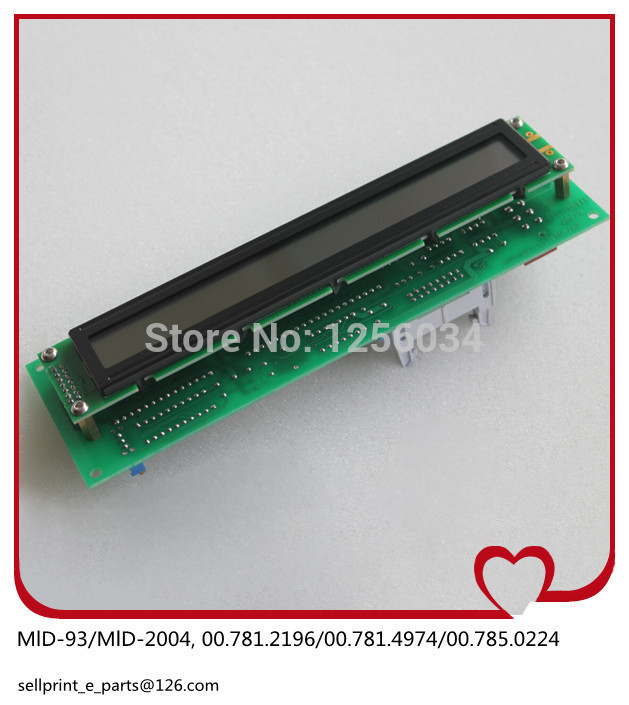 MID 00.785.0224/09 (includ display and board) Heidelberg Printed circuit board MID 00.781.2196 сумка поясная dakine cannery row 10l mako mak