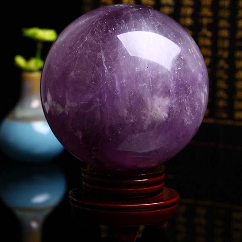 Cristal de roche Purplr naturel boule de cristal décoration pierre brute cristal naturel ameublement accessoires Feng Shui Purple13