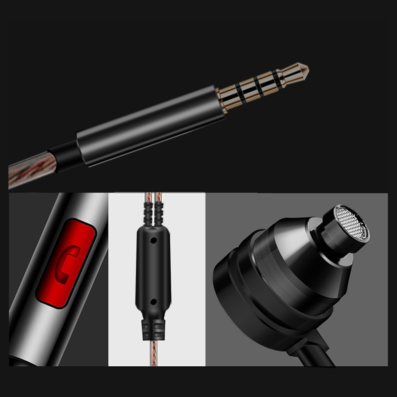 Artisome Super Bass Wired Earphone For Phone Stereo Mic Metal Earphone For iPhone Samsung Xiaomi Headphones Accessories (10)