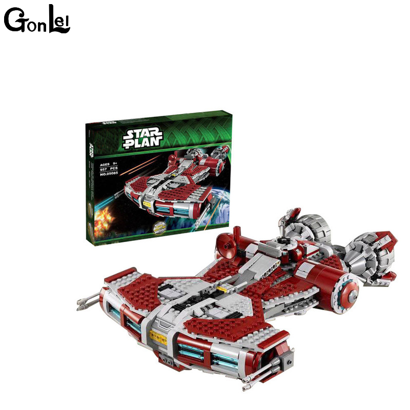 (GonLeI) Genuine Star War Series The Jedi Defender Class Cruiser Set Building Blocks Bricks Educational Toys as Gift With 75025 gonlei 02012 774pcs city series deepwater exploration vessel children educational building blocks bricks toys model gift 60095