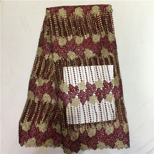 Nigeria Lace Fabric 2018 French Lace Embroidered stones Tulle Lace  African Net Lace High Quality For Evening dress    ellam211Nigeria Lace Fabric 2018 French Lace Embroidered stones Tulle Lace  African Net Lace High Quality For Evening dress    ellam211
