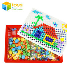 Models Building Toy Blocks Kits DIY Creative Mosaic Nail the Composite Picture Flapper Educational Toys for Children Kids Gift(China)