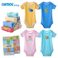 5 Pieces Baby Bodysuits DANROL Short Sleeved Boys Clothing Triangle Newborn Bodysuits Cotton 3-24M V20