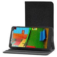 Lujo pu cubierta de cuero de case para lenovo phab 6.98 pb1-750n pb1-750m pb1-750 funda tableta del teléfono contraportada casos + protectores de pantalla