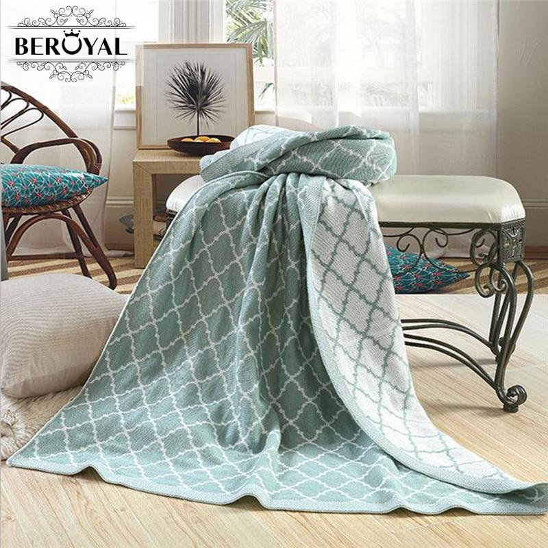 Beroyal Brand 2017 Plaid Blanket-1PC Wood Cashmere Knitted Blanket  Adult Throw Blanket for Bed Sofa Blanket Cobertor 125*150cm
