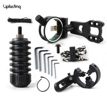Liplasting Hunting Archery Upgrade Combo Bow Sight Kits Arrow Rest Stabilizer Compound Bow Accessories, With Tracking No.
