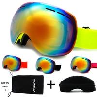 OSHOW Ski Goggles Double Lens Women Snow Sunglasses Helmet Accessories Ski Sunglasses Women Glasses For Snowboard