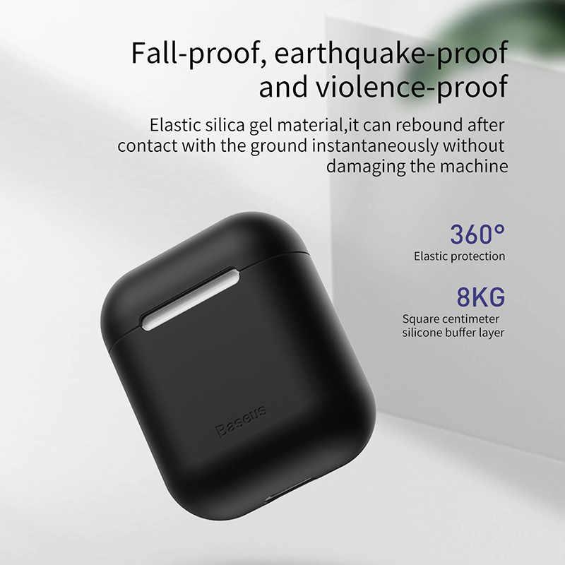 Baseus miękki futerał silikonowy do Airpods 1 2 ochronna pokrywa dla Airpods bezprzewodowe słuchawki Bluetooth etui do Apple Aipods przypadku