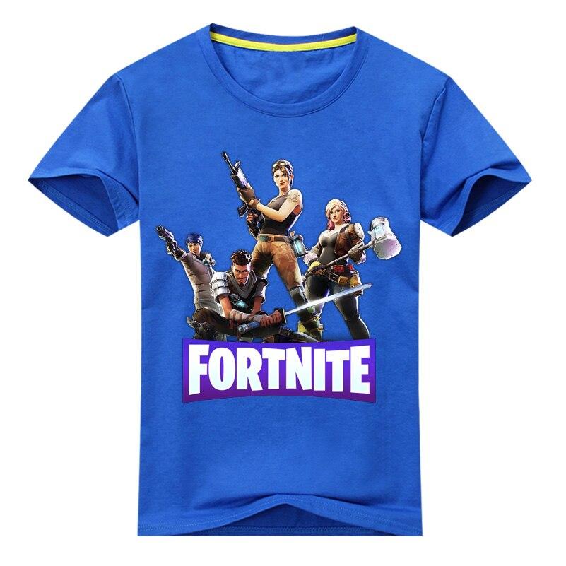 New Cartoon Fortnite Pattern Short Sleeves Tee Tops For Boy Girls Summer Clothing Children 3D Print T-shirt Kids T Shirt DX020 стоимость