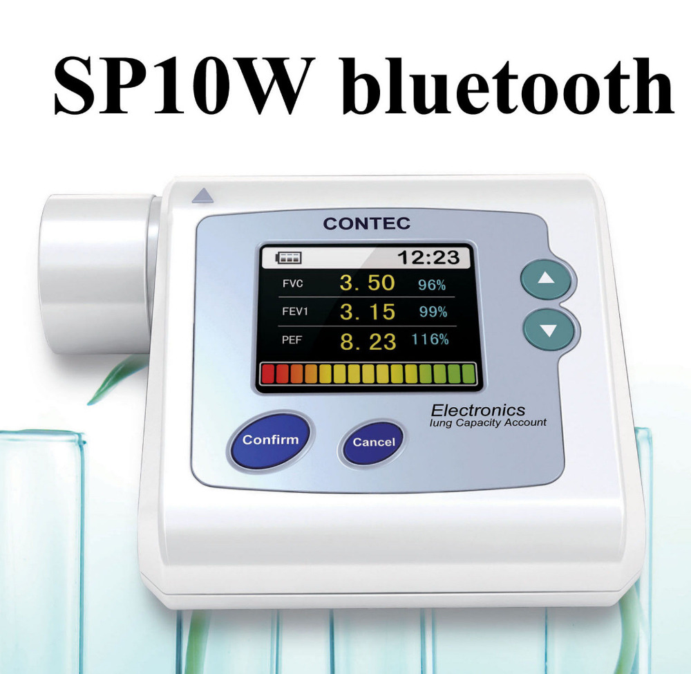 все цены на SP10W Handheld Spirometer Lung Check,Pulmonary Function,PC Software bluetooth в интернете