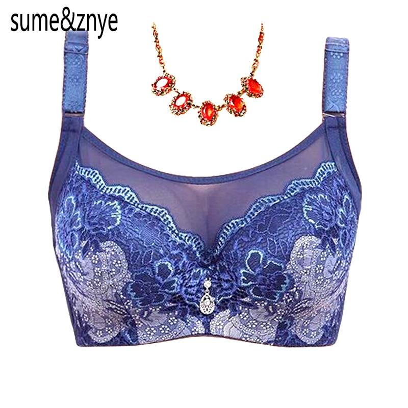 Dámské intimní prádlo Solid push up Bra velká velká krajková podprsenka plus velikost černá červená modrá podprsenka pro ženy 90 95 100 C D Cup
