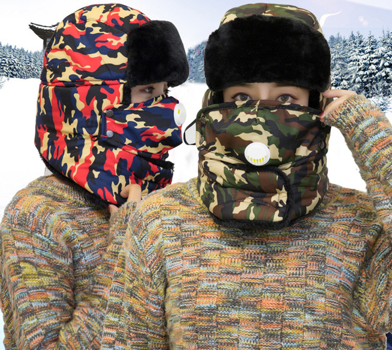 HTB1yOlJe.uF3KVjSZK9q6zVtXXaf Winter Thermal Hiking Caps,Camouflage Warm Ear Neck Protector with Breathing Valve,Women Men Sports Ski Hats facemask