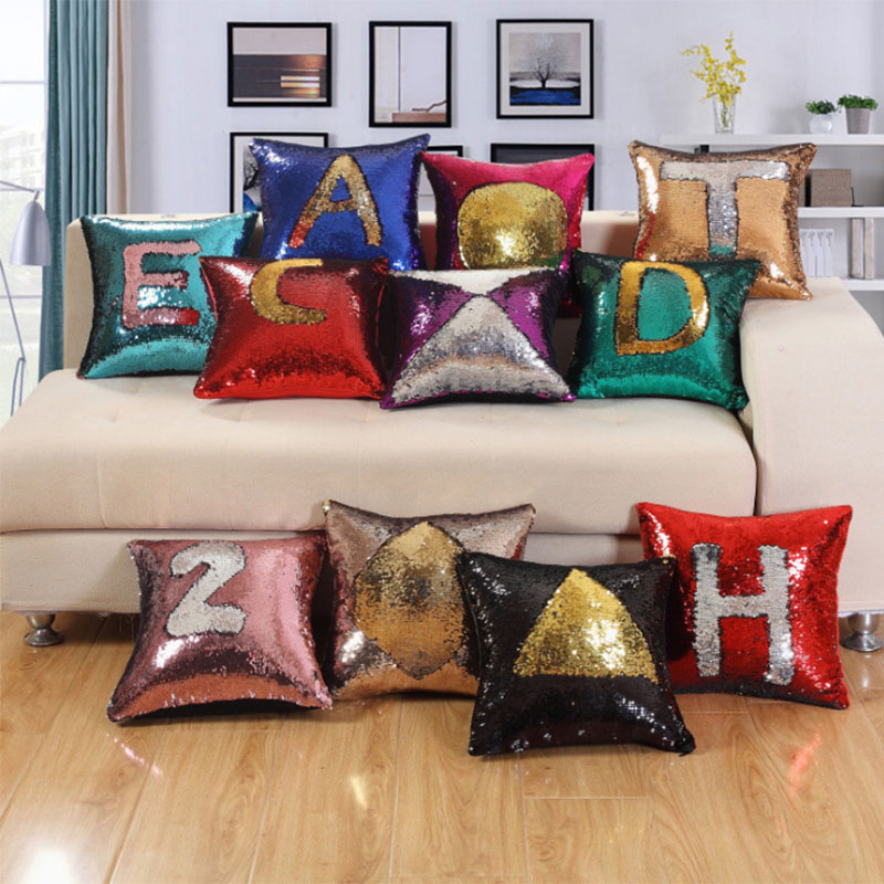 Sequins Mermaid Cushion Cover car sofa pillow decoration for home decor Pillowcovers