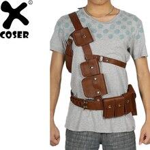 XCOSER Fallout 4 единственный выживший ремень с ремешком игры Косплэй реквизит Хэллоуин Косплэй костюм аксессуары PU Ремни для Для мужчин мужской