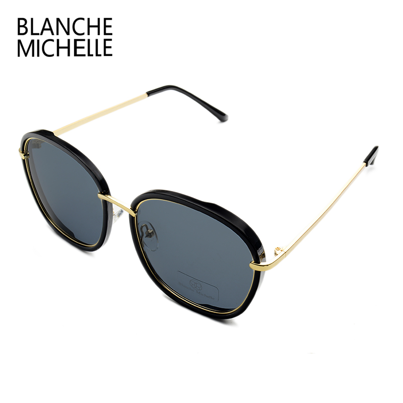 Image 4 - 2019 High Quality Square Polarized Sunglasses Women Brand Designer UV400 Sun Glasses Gold Frame sunglass Mirror Pink With Box-in Women's Sunglasses from Apparel Accessories
