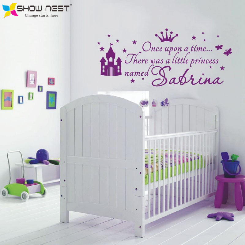 Custom Princess Girl Name Decals Wall Sticker For Kids Rooms Baby Girl  Nursery Wall Decals Girlu0027s Bedroom Wall Art Home Decor In Wall Stickers  From Home ... Part 68